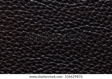 Closeup of seamless black leather texture for background - stock photo