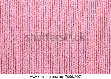 closeup of seamless pink knitted fabric texture - stock photo