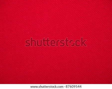 closeup of seamless red knitted fabric texture - stock photo