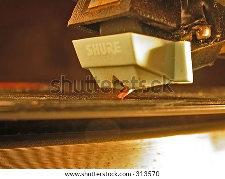 Closeup of shure stylus - stock photo