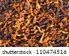 Closeup of smoking tobacco. Background or texture - stock photo