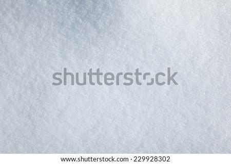 Closeup of snowed up field  - stock photo