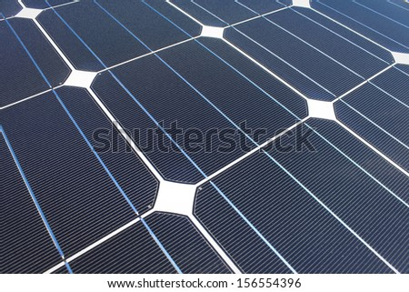 Closeup of Solar cell plate