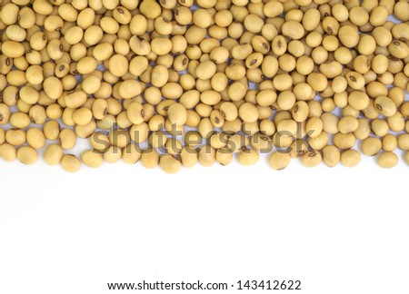 Closeup of soy beans  background. - stock photo