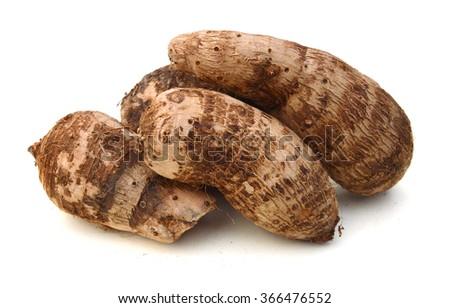 Closeup of taro on white background  - stock photo