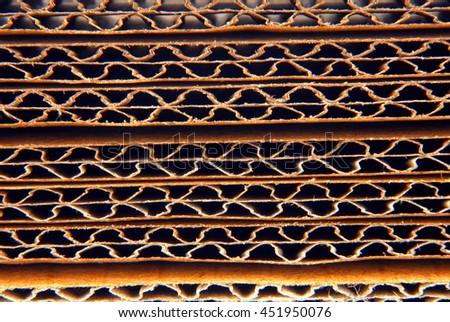 closeup of the corrugated paper - stock photo