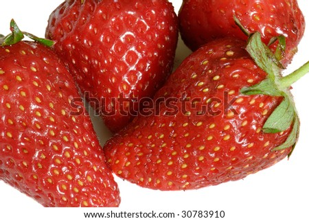 Closeup of the fresh strawberry