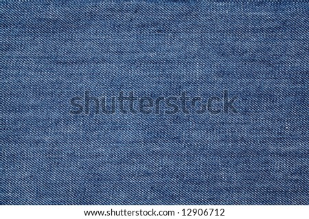 Closeup of the texture of blue jeans - stock photo