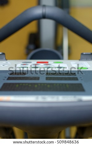 Closeup of trainer in the gym