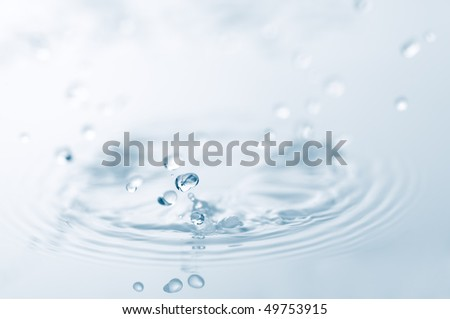 closeup of water splash