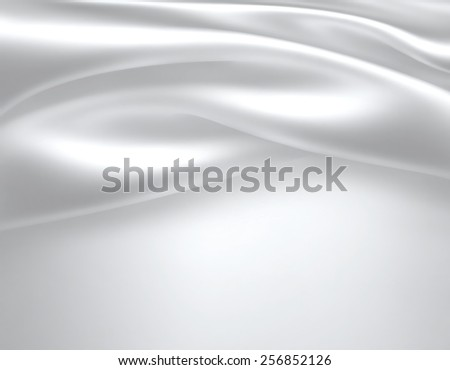 Closeup of white satin fabric as background - stock photo