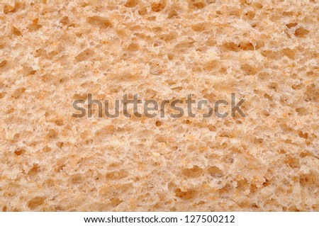 closeup  of whole wheat bread for background uses