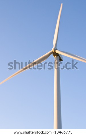 Closeup of Wind Turbine - stock photo