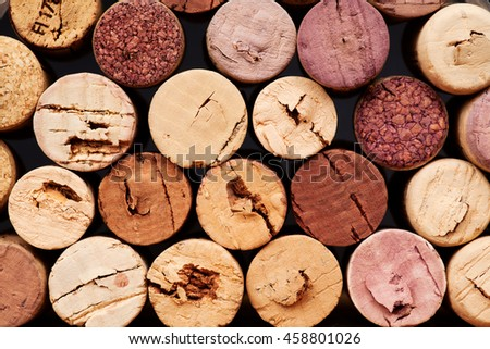 Closeup of wine corks background