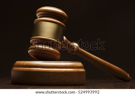 Closeup of wooden gavel
