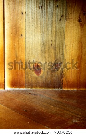 Closeup of wooden surface - stock photo