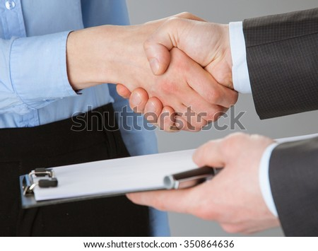 Closeup of working business team, concept of successful team work - stock photo