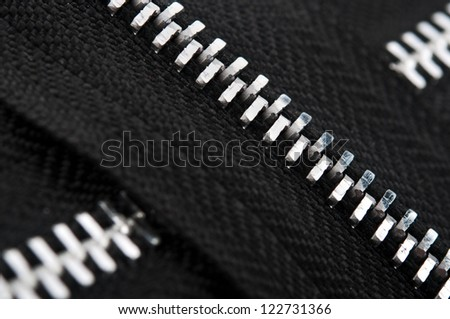 closeup of zipper on background