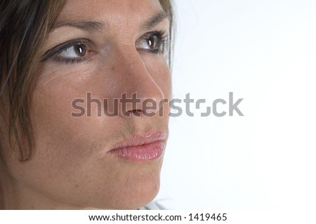 Closeup on a attractive woman face