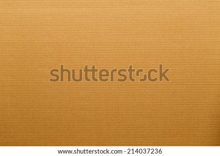 Closeup on a cardboard surface with horizontal lines - stock photo
