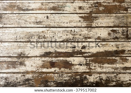 Closeup pattern of old oak wood wooden hardwood vintage table furniture texture abstract background  - stock photo