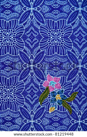 closeup pattern texture of general traditional thai style native handmade fabric weave - stock photo