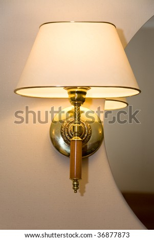 closeup photo of a sconce on the wall - stock photo