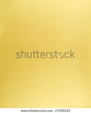 Closeup photo of abstract golden metallic background - stock photo