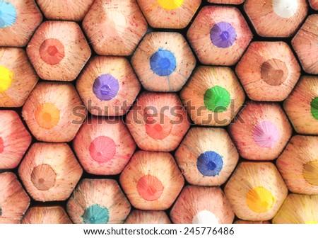 closeup photo of crayons  - stock photo
