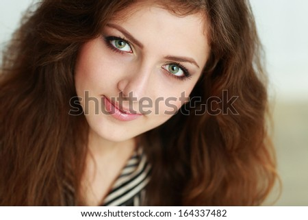 Closeup portrait of a beautiful confident businesswoman