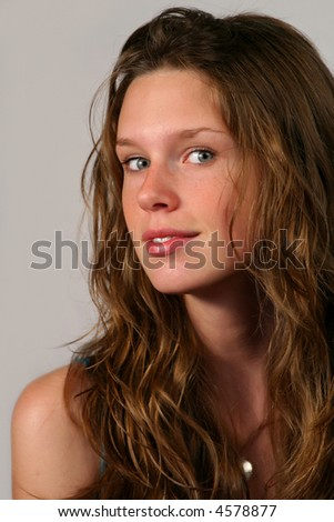 closeup portrait of a beautiful teenager girl