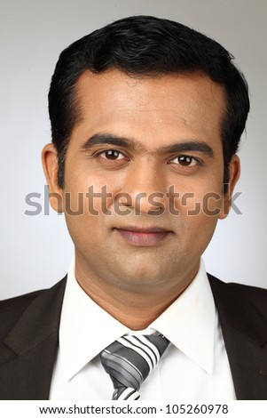 Closeup portrait of a  business man