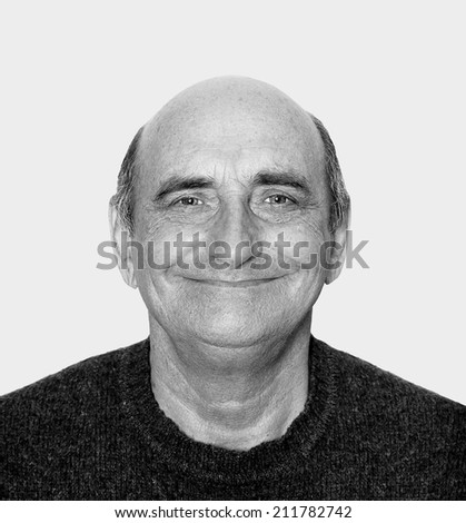 Closeup portrait of a happy aged man  - stock photo