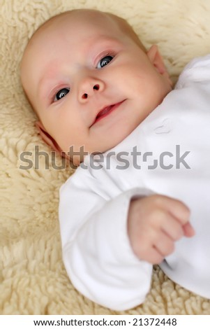 Closeup portrait of adorable baby