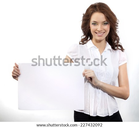 closeup portrait of attractive  caucasian smiling woman brunette isolated on white studio shot toothy smile looking at camera tooth businesswoman - stock photo