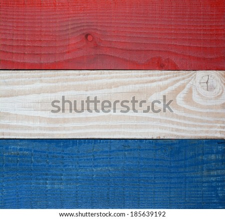Closeup red, white and blue boards background. Patriotic background for 4th of July or Memorial Day projects. - stock photo