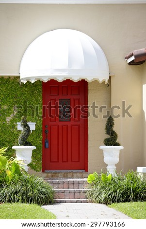 CLoseup section of a house - stock photo