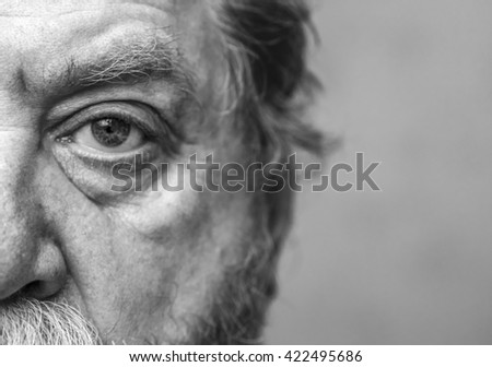 Closeup Shot Of A  Man Eye - stock photo