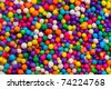 Closeup shot of a very small colorful candies used for cakes decorations. - stock photo