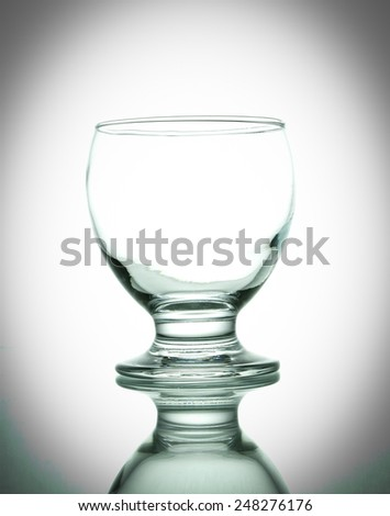 Closeup shot of empty glass. - stock photo