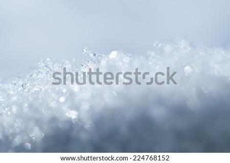 closeup snow texture, natural Christmas bacground - stock photo