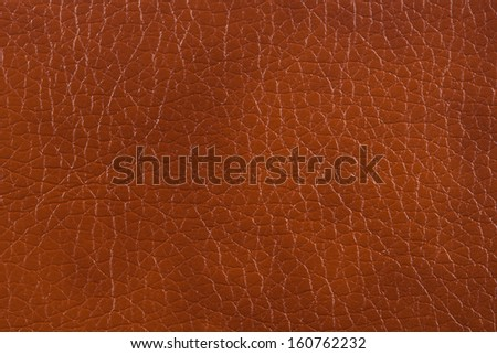 Closeup texture of brown spot leather for background - stock photo