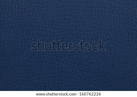 Closeup texture of dark blue leather for background - stock photo