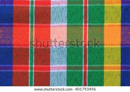 Closeup texture of Fabric, Thai style loincloth - stock photo