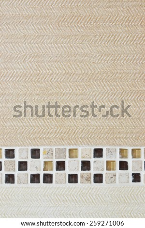 closeup texture of tile with mosaic - stock photo