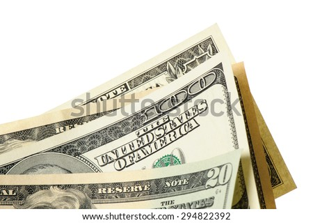 closeup The United States of America Dollar bills (US Dollars)