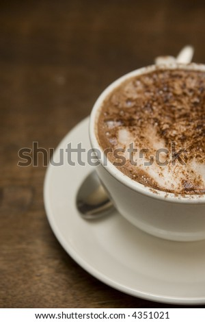 closeup view of a cup of coffee