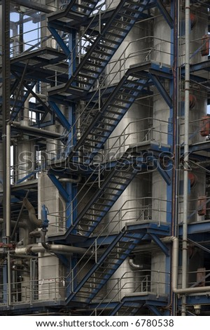closeup view of a paper manufacturing plant