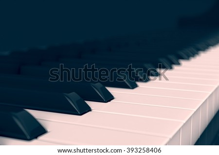 closeup view of a piano keyboard (3d render)