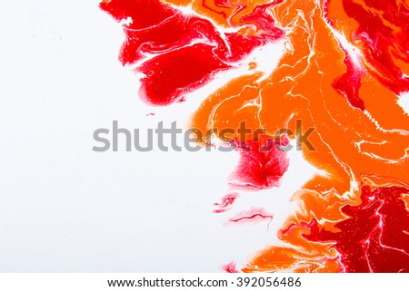 Closeup view of an original abstract painting on canvas. Abstract art splash. Hand painted background with space for text or image. Fragment of artwork, modern art, contemporary art. - stock photo